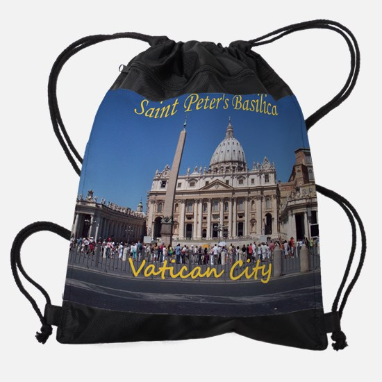 VaticanCity_10X8_puzzle_StPetersBas Drawstring Bag