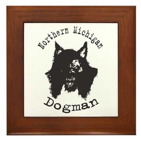 Northern Michigan Dogman Framed Tile