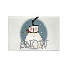 Primsical Snowman Rectangle Magnet