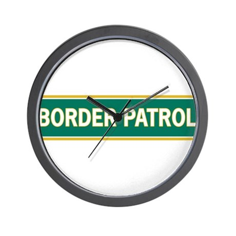Border Patrol Wall Clock