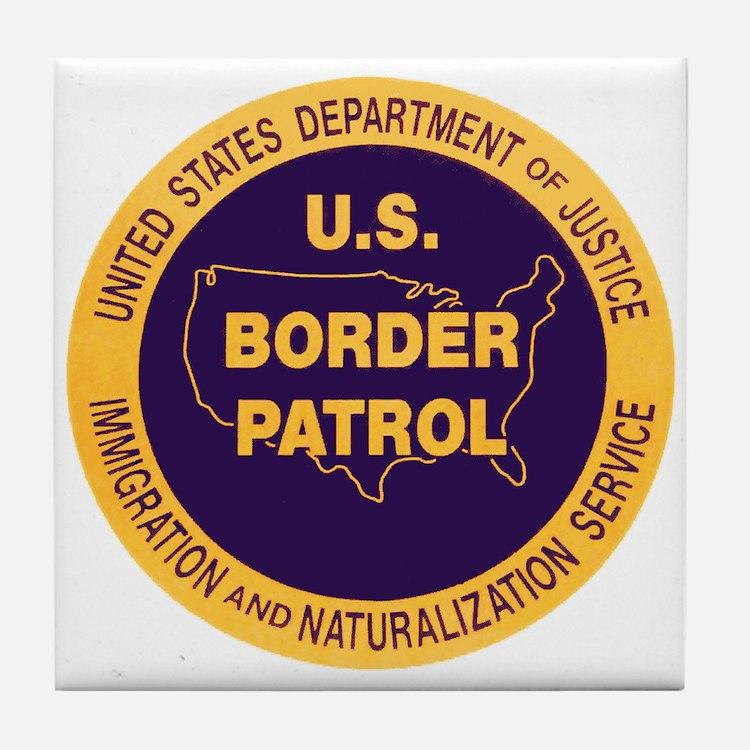 Border Patrol Tile Coaster