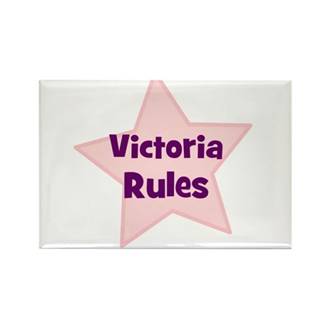 Victoria Rules Rectangle Magnet