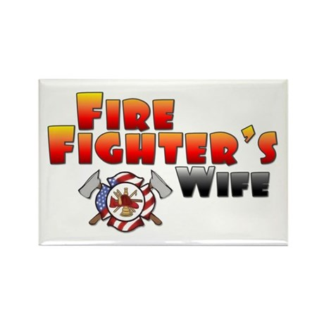 Fire Fighter's Wife Rectangle Magnet