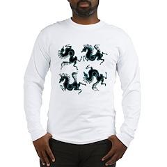 4 Horses Batik Long Sleeve T-Shirt