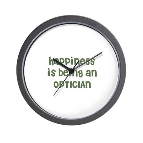 Happiness is being an OPTICIA Wall Clock