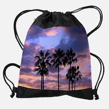 Sunset Palms Drawstring Bag
