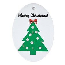 Volleyball Christmas! Ornament (Oval)