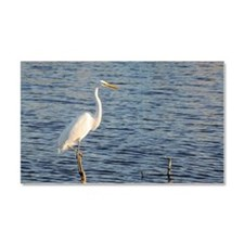 Great white egret, Ardea alba,  Car Magnet 20 x 12