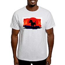 Patterdale Terrier Ash Grey T-Shirt