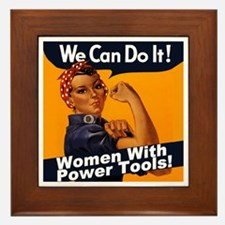 Women with Power Tools Framed Tile