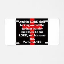 Zechariah 14-9 Aluminum License Plate