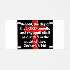 Zechariah 14-1 Aluminum License Plate