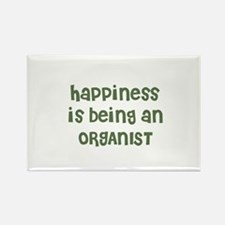 Happiness is being an ORGANIS Rectangle Magnet
