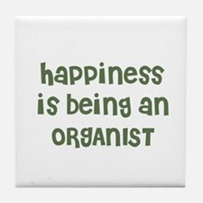 Happiness is being an ORGANIS Tile Coaster