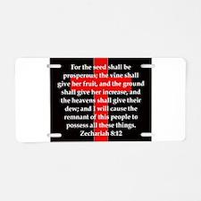 Zechariah 8-12 Aluminum License Plate