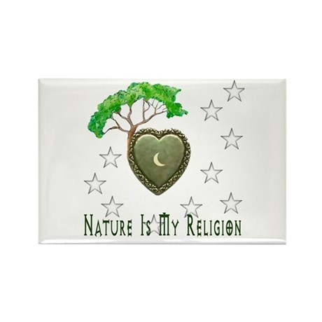 Nature Is My Religion Rectangle Magnet (100 pack)