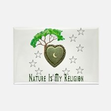 Nature Is My Religion Rectangle Magnet (10 pack)