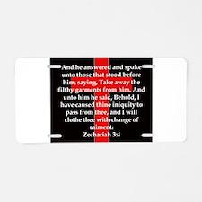 Zechariah 3-4 Aluminum License Plate