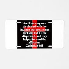 Zechariah 1-15 Aluminum License Plate