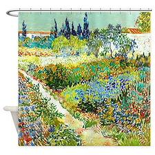 Van Gogh Flower Garden Poppy Shower Curtain