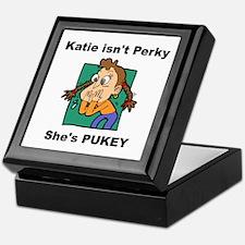 Katie is Pukey Keepsake Box