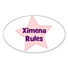 Ximena Rules Oval Decal