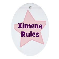 Ximena Rules Oval Ornament