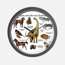 Maryland State Animals Wall Clock