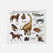 Maryland State Animals Throw Blanket