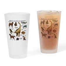 Maryland State Animals Drinking Glass