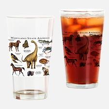 Maryland State Animals Drinking Glass