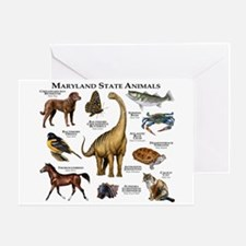 Maryland State Animals Greeting Card
