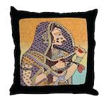 Rajput Queen Throw Pillow