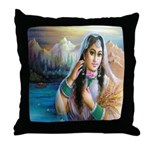 Kashmiri Bride Throw Pillow