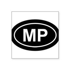 MP Oval Sticker