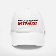 Wonder Twin Text Baseball Baseball Cap