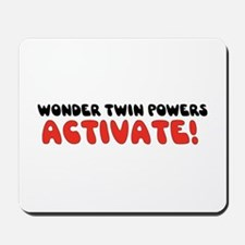 Wonder Twin Text Mousepad