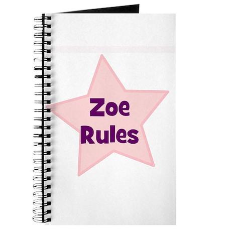 Zoe Rules Journal