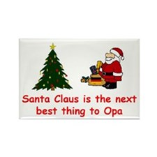 Santa vs Opa Rectangle Magnet