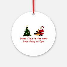 Santa vs Opa Keepsake Ornament