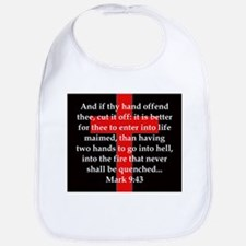 Mark 9-43 Cotton Baby Bib