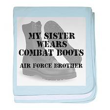 AF Brother Sister Wears CB baby blanket
