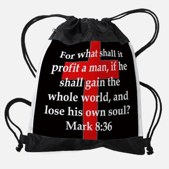 Mark 8-36 Drawstring Bag