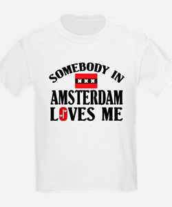 Somebody In Amsterdam Kids T-Shirt