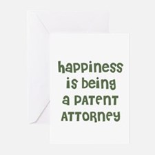 Happiness is being a PATENT A Greeting Cards (Pack