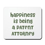 Happiness is bein a patent attorney Classic Mousepad