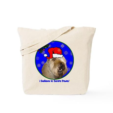 SANTA PAWS Wheaten Tote Bag