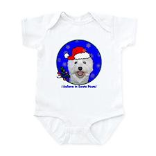 SANTA PAWS Westie Infant Bodysuit