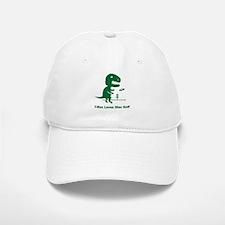 T-Rex Loves Disc Golf Baseball Baseball Cap
