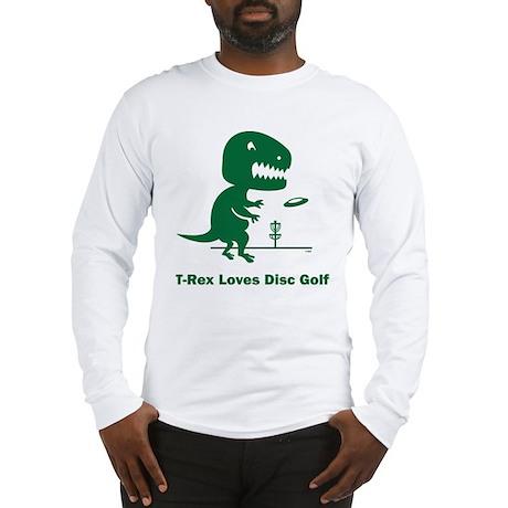 T-Rex Loves Disc Golf Long Sleeve T-Shirt